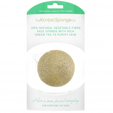 KONJAC FACIAL PUFF SPONGE WITH GREEN TEA | GREEN TEA